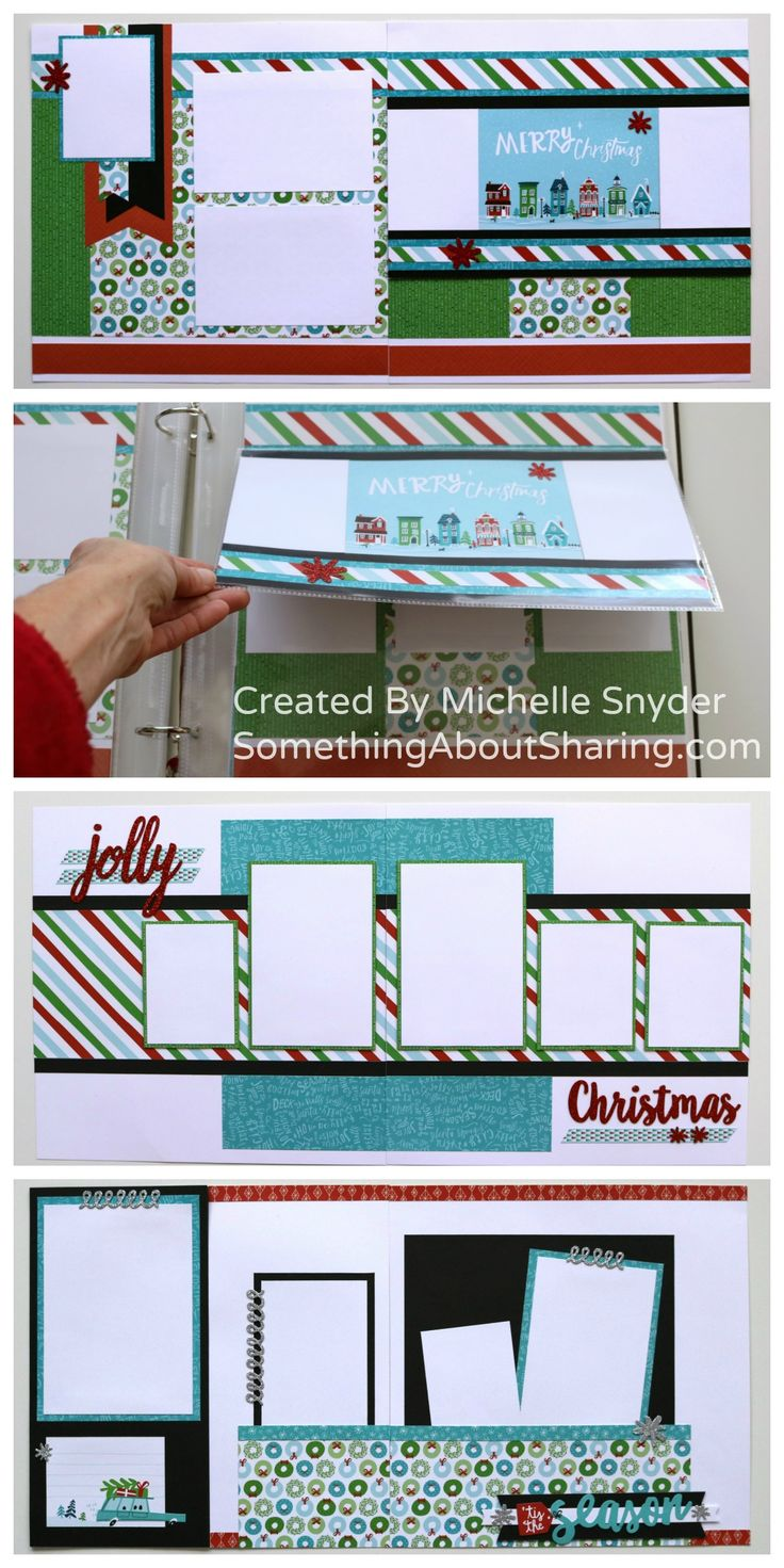 Christmas scrapbook layouts with interactive pages featuring CTMH City Sidewalks. Workshop Kits and Workshop Guides available. #SomethingAboutSharing #ctmhcitysidewalks #ctmhflipflaps #christmasscrapbooks