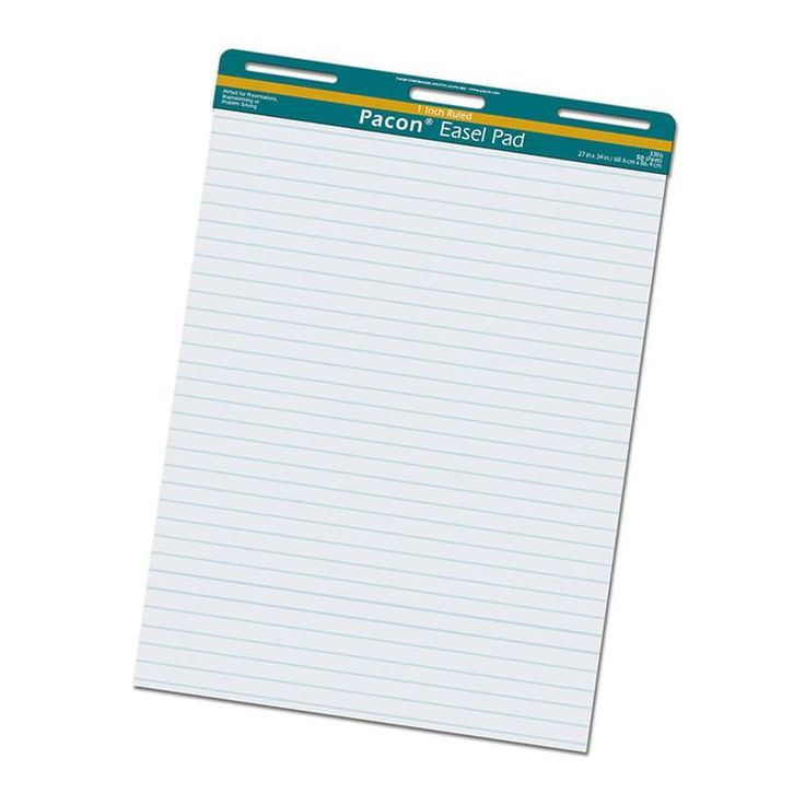 Easel Pad 50 Sheets 1in Ruled