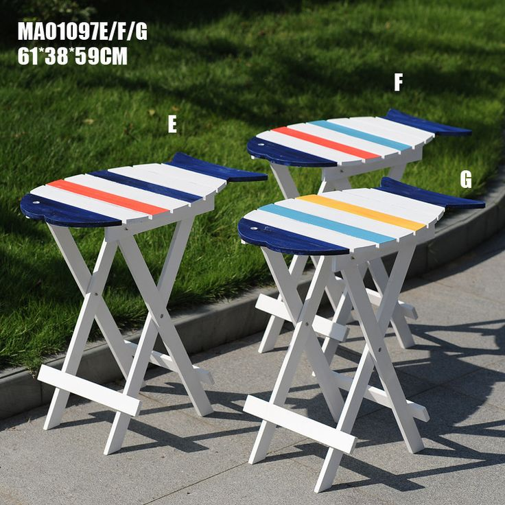 Promotion Mediterranean wind home to do the old wood tea table color folding small fish table furniture MA01097 #Affiliate