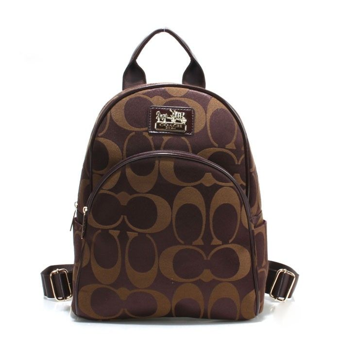 Coach Logo Monogram LZ701 Backpack In Coffee