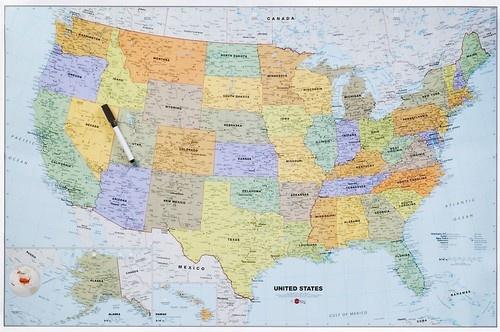 Dry Erase US Map