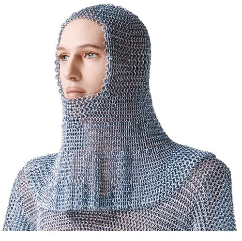 Cota malla larga hecha de escamas,hueso y metal liso