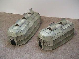 maison longue en papier à imprimer