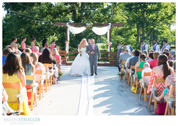Bride And Groom Exiting Outdoor Wedding Ceremony At The Barn Springs