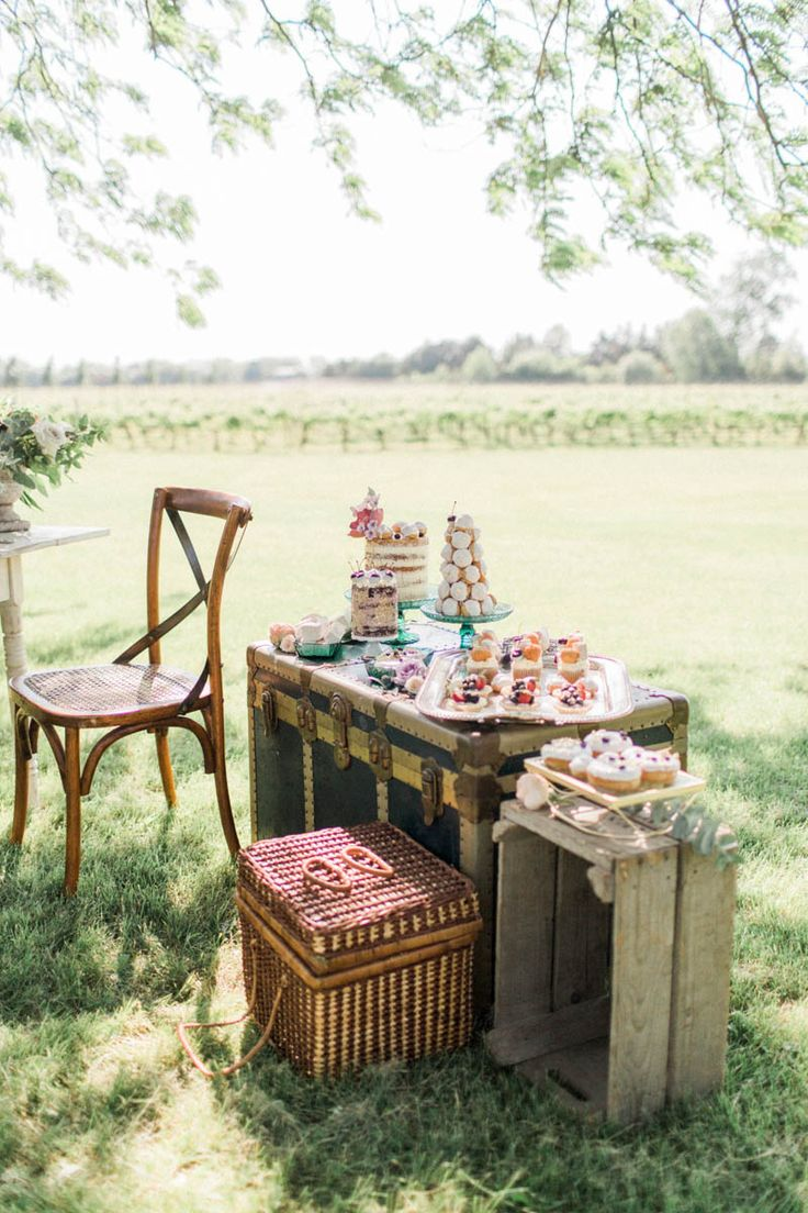 A lovely sweets table for a private picnic event at the Legends Estate Winery. vineyard-bride-anniversary-session-legends-estate-winery-niagara-inspiration-vineyard-picnic-summer-madison-rose-photography017.jpg