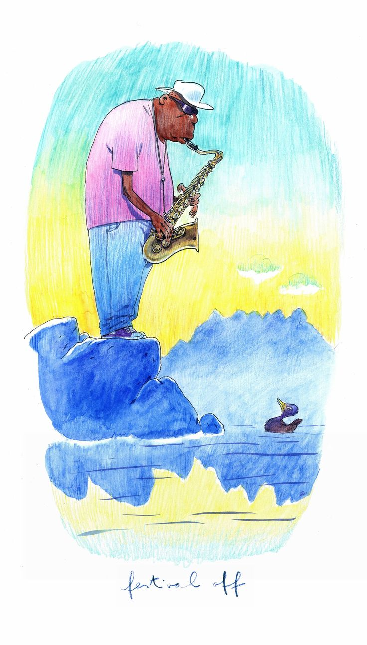 """Zep, Festival off II, série limitée à 5 ex, 2014 Série réalisée en exclusivité pour Janus Gallery dans le cadre de l'exposition """"Zep à Montreux"""". Tirage Laurent Cochet."""
