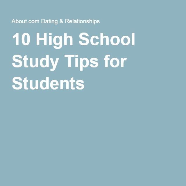 10 High School Study Tips for Students