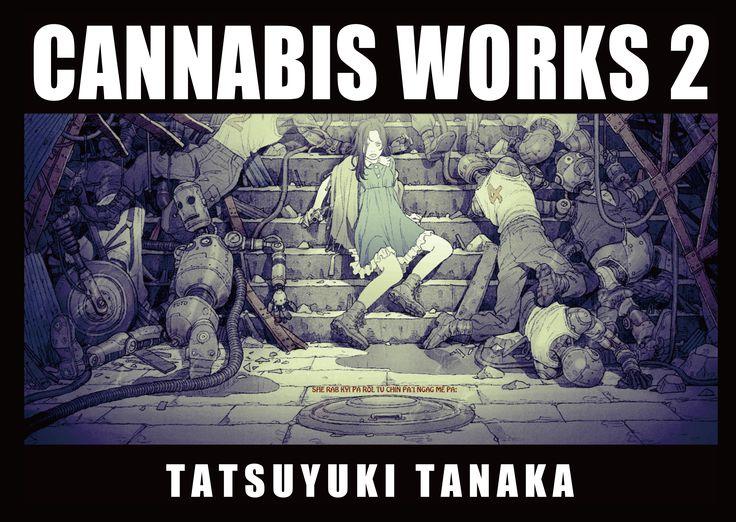 "Cover of ""CANNABIS WORKS 2 Tatsuyuki Tanaka Art Book"" #JapaneseAnimation #JapaneseComic #TatsuyukiTanaka"