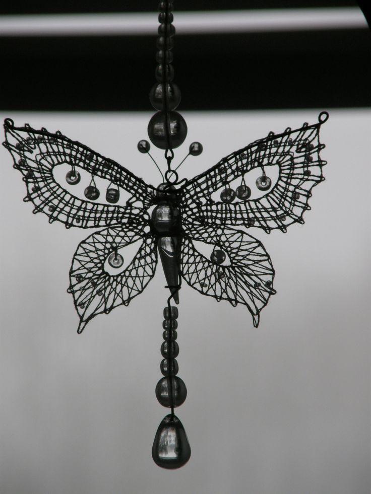 Bobbin lace butterfly.