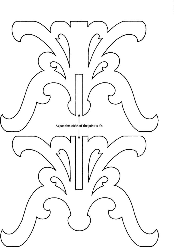 """Scrollsaw Patterns -2"""" scale table base doll furniture"""