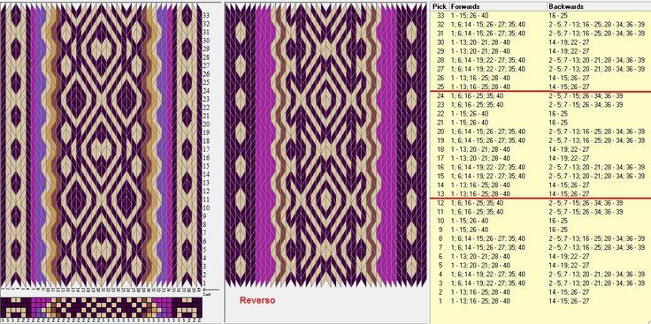 40 tarjetas, 6 colores, repite cada 12 movimientos // sed_1045a diseñado en GTT༺❁