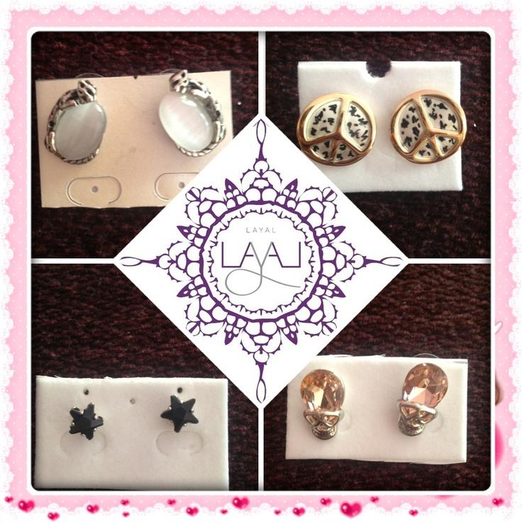 New in stud earrings layal glyfada