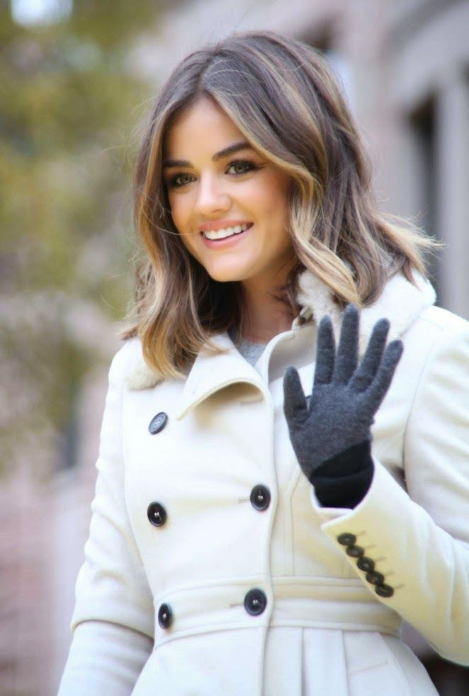 Lucy Hale in a chic trench coat at Macy's Annual Thanksgiving Parade in NYC - My Face Hunter
