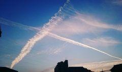 きれいな空#なかなかないね#空#いい空#クロスしてるよ#どーゆー意味