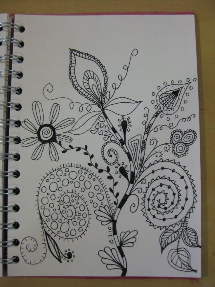 278 best images about doodle flowers on pinterest for Basic doodle designs