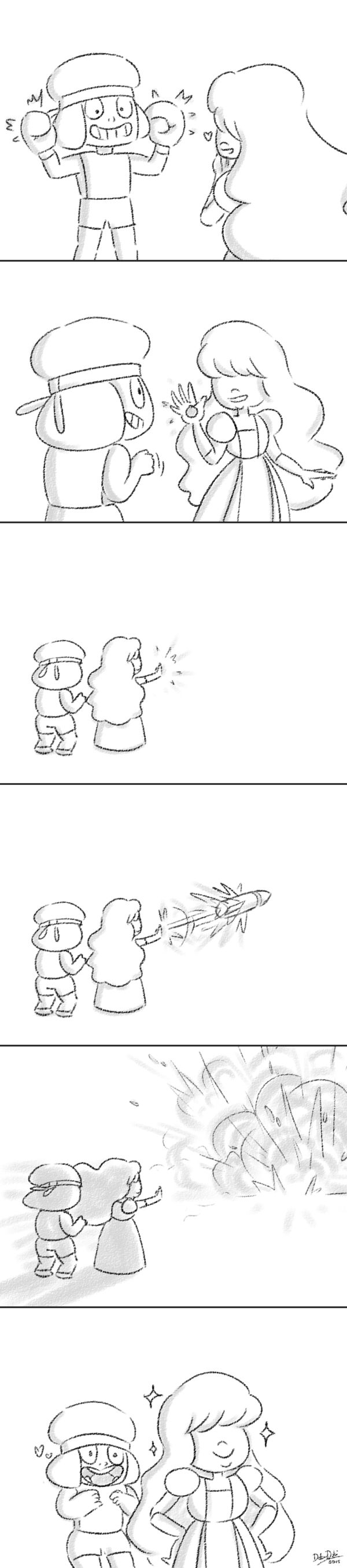 Ruby and Sapphire's Weapons by DokuDoki.deviantart.com on @DeviantArt