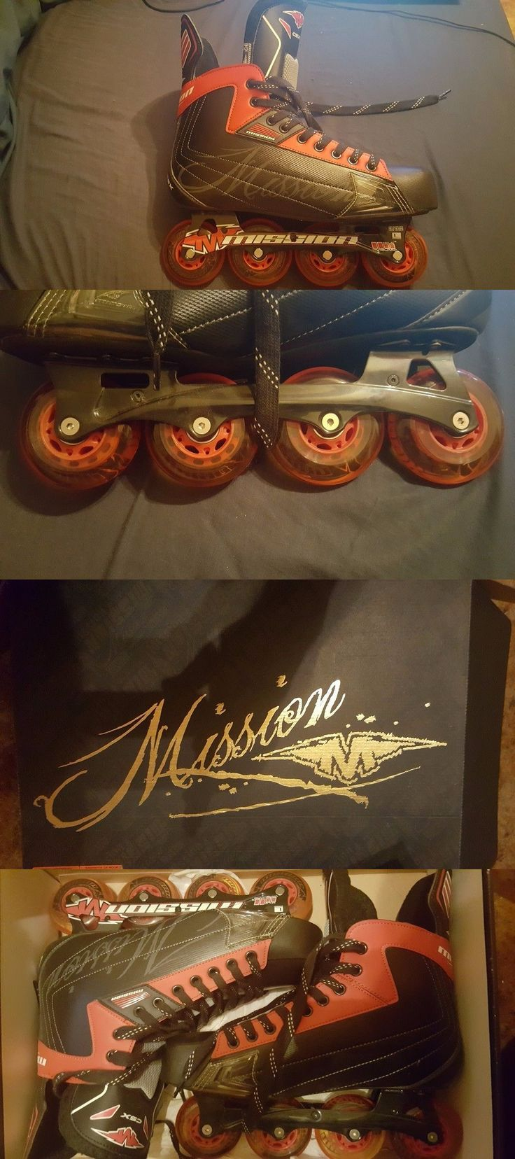 Roller Hockey 64669: Mission Csx Inline Roller Hockey Skates Size 12 Adult Never Been Used !!!! -> BUY IT NOW ONLY: $90 on eBay!