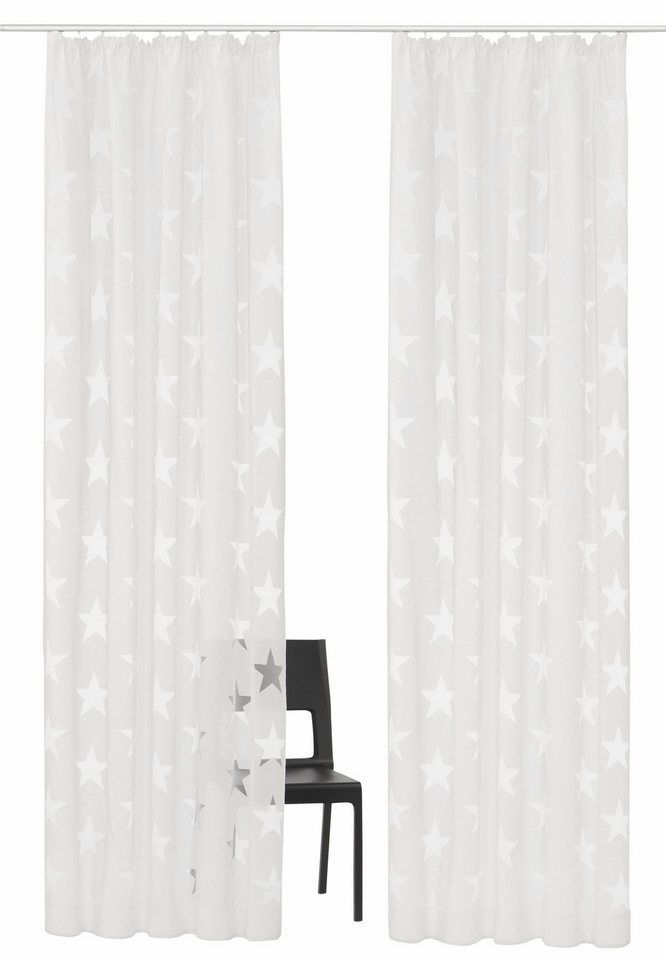 Gardine »Sassari«, my home Selection, Kräuselband (2 Stück) ab 44,09€. Halbtransparenter Stoff, Hochwertiger Ausbrenner, Cotton made in Africa bei OTTO
