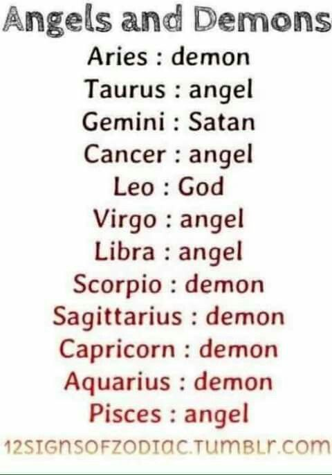 Angel / Demonios...  Ahhhhhh ya entiendo...