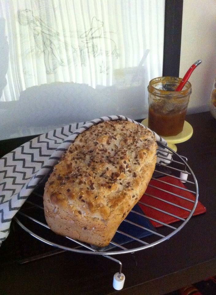 Gluten free multigrain home cooked bread. The best I've ever eaten! #carrieinthekitchen