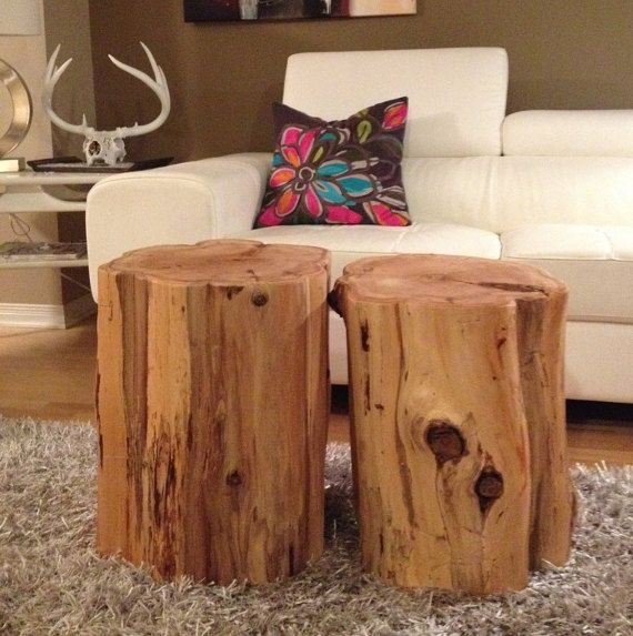 Stump Tables,Log Furniture,Stump Coffee Table, Wood Block Tables,Rustic  Tables