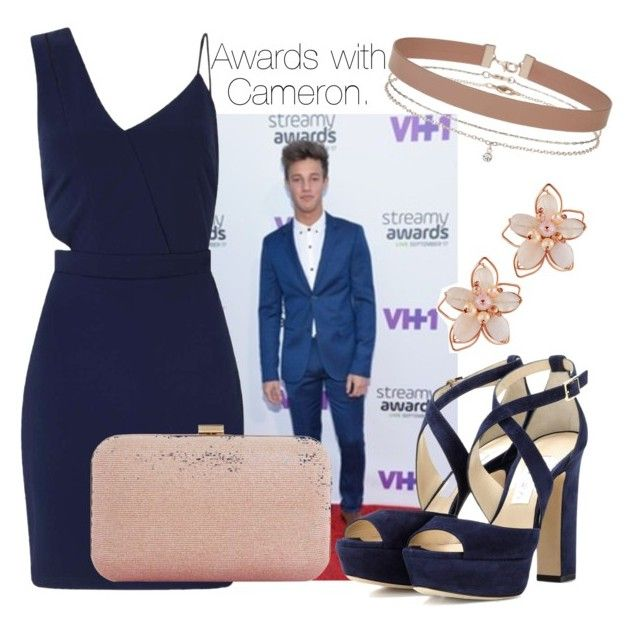 """Awards with Cameron."" by sunfayn on Polyvore featuring moda, Miss Selfridge, Dune, Jimmy Choo e NAKAMOL"