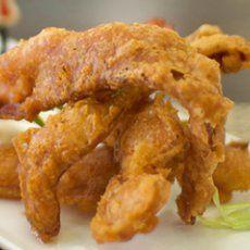 Crispy Deep Fried Bacon- oh dear god!!!  :-)))