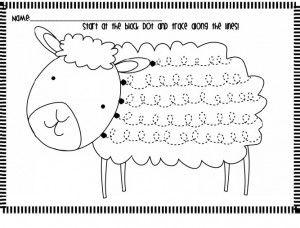 sheep trace worksheet