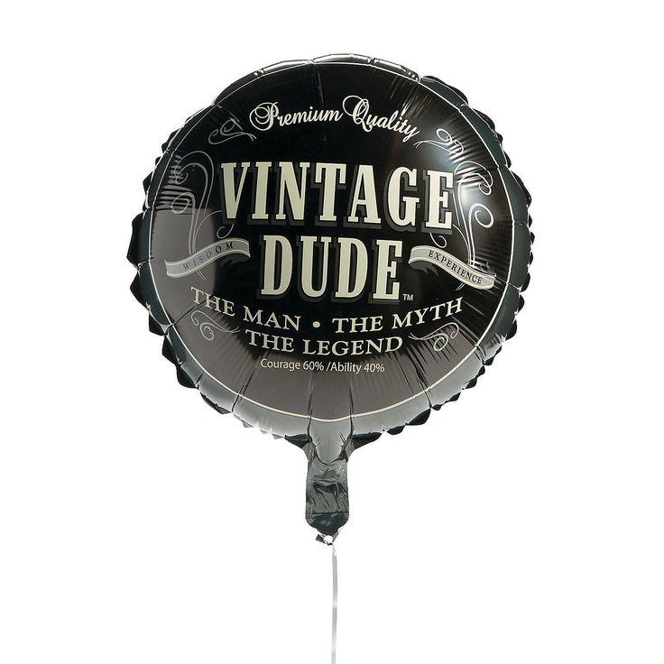 Vintage+Dude+Birthday+Mylar+Balloon+-+OrientalTrading.com