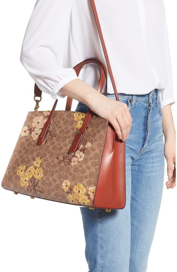 Coach Charlie Prairie Blossoms Signature Canvas Tote Nordstrom