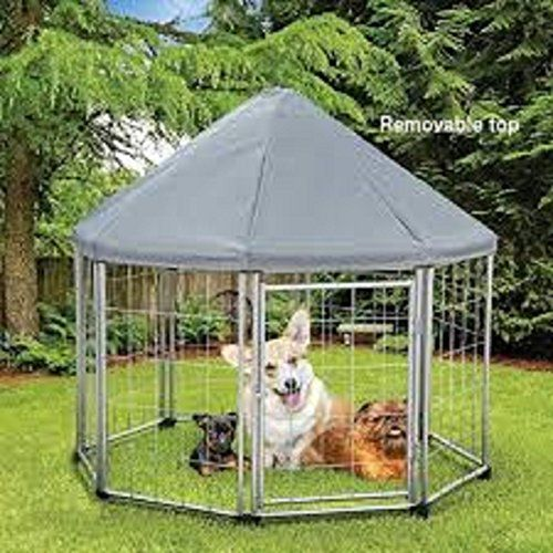 Pet Gazebo Outdoors and Indoors. Sturdy Metal with weather resistant rood. Portable perfect outdoors and indoors. Keeps pets safe and protected from rain and sun and elements. Heavy duty metal struct...