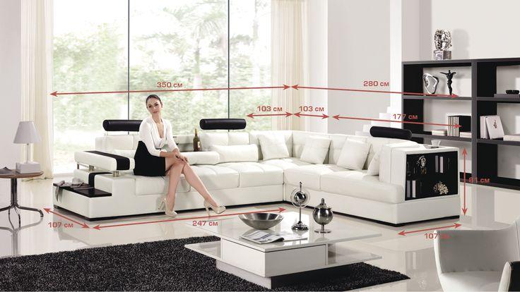 """Диван """"All inclusive"""" - купить стильный угловой диван из кожи All inclusive в интернет магазине Sit-Down.ru"""