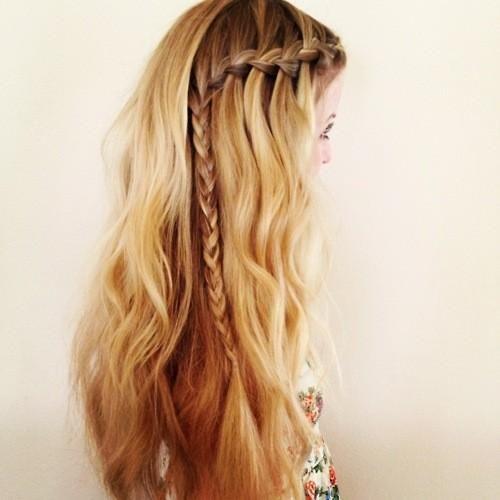 blonde with braid