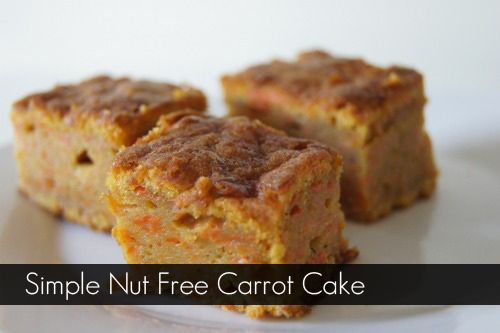A very simple Carrot Cake Recipe for the school lunches.