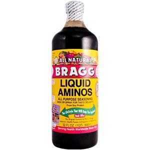 Bragg Liquid Amino - Yum!  Replaces salt even more deliciously!  And healthily!