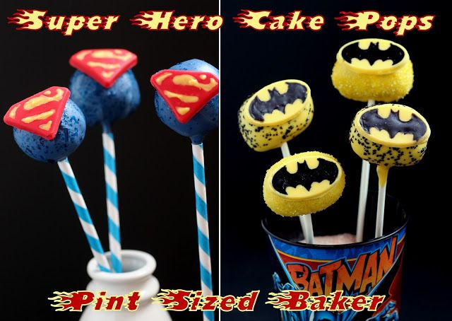 Super-Hero Cake Pop Molds - Pint Sized Baker