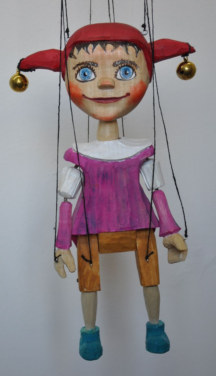 puppet Jester, marionette, figure, toy,  wood carving was born 2017
