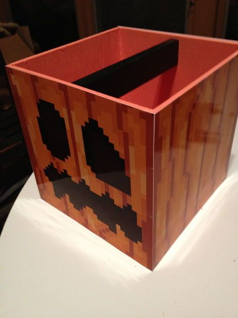 Minecraft Pumpkin Halloween Treat Pails Tutorial