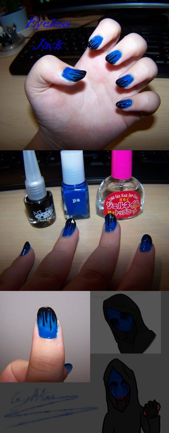 Eyeless Jack Nails SOMEONE PLEASE TELL ME HOW TO DO THIS I'M BEGGING U