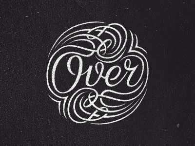 """Over"" lettering by Rokas Sutkaitis"