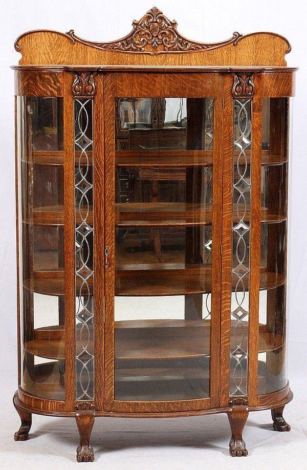 Oak China Cabinet w/ Beveled Glass Panels ~ invaluable.com/auctiion - Best 25+ Oak China Cabinet Ideas On Pinterest Annie Sloan Chalk