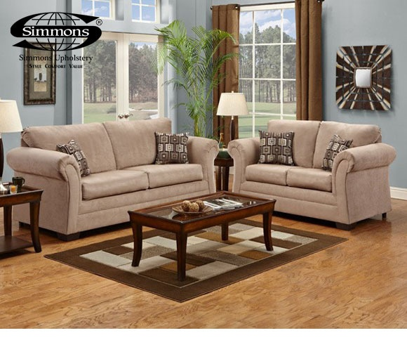 American Freight Furniture Sofs And Loveseats: Victory Lane Taupe Sofa & Loveseat #AFPinspiredHome
