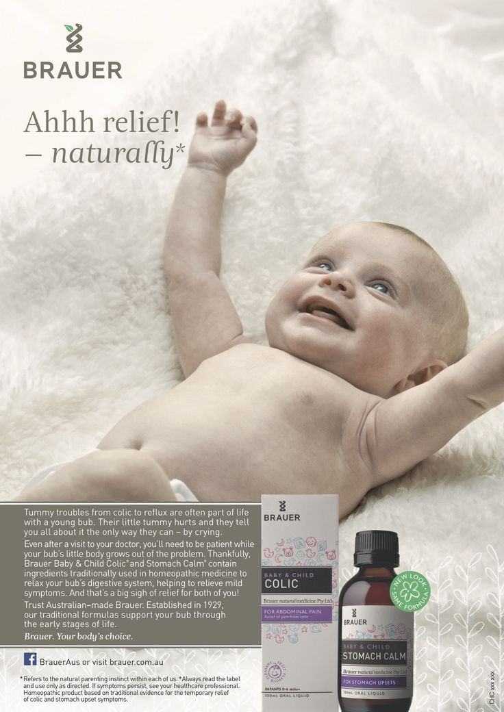 Baby & Child, includes products that will provide relief from Colic and an upset stomach