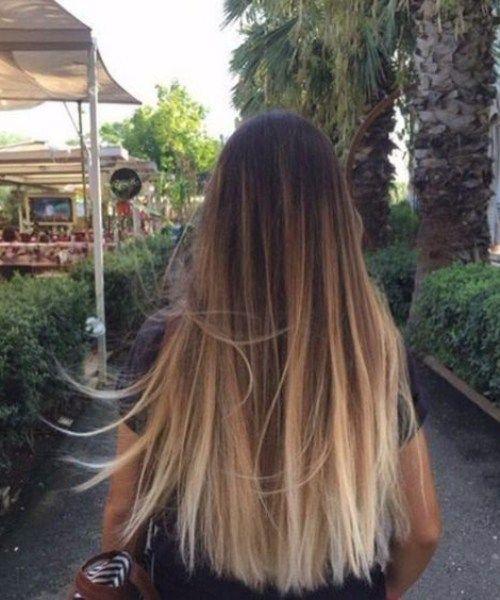 Blondine Uber Naturliche Gerade Balayage Haarfarbe Bad Balayage In