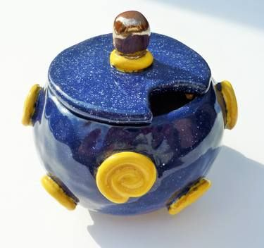 Sugar pot - navy blue