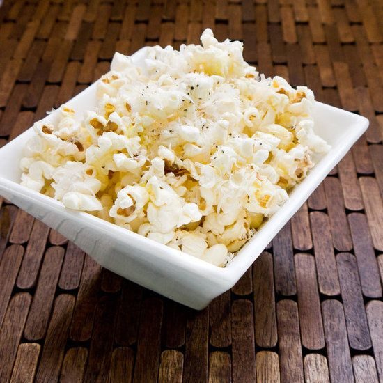 Truffle-Parmesan Popcorn Recipe--I could probably easily veganize this with nooch and vegan butter for Mom, and it sounds really nice :)
