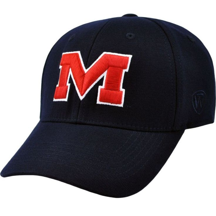 Top of the World Men's Ole Miss Rebels Blue Premium Collection M-Fit Hat, Size: Medium/Large, Team