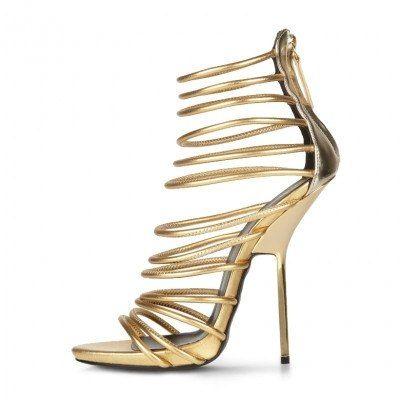 POSH GIRL Grace Gold Stiletto Sandals