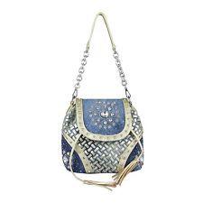Photo of WOMEN'S SHOULDER BAG 2in1 BACKPACK JEANS SHOPPER Rhinestone Glitter Chain Bowling: E …