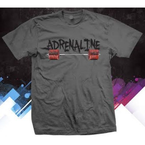 Adrenaline performance T shirt. Stay dry while you train with our Gilden dry fit performance Adrenaline t shirts. #adrenalineapparel #gildenperformance #dryfit #tshirts
